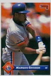 bfba66380ca Amazon.com  1993 Donruss Baseball Card  300 Marquis Grissom ...