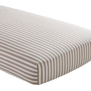 Amazoncom Crib Bedding Khaki Striped Crib Fitted Sheet Land Of