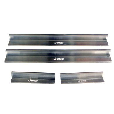 Genuine Jeep Accessories 82210142AB Brushed Stainless Steel Door Sill Guard by Jeep