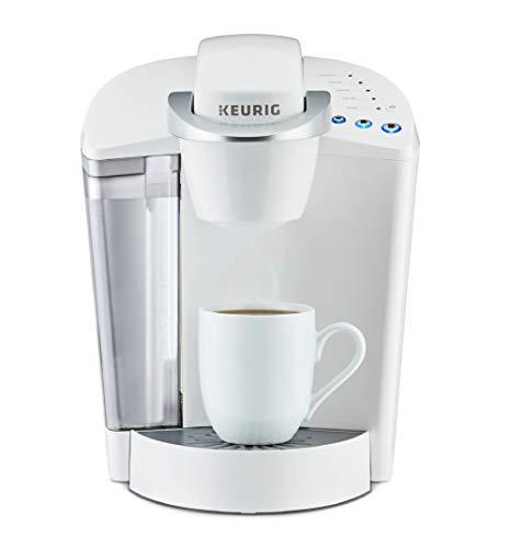 - Keurig K-Classic Coffee Maker, K-Cup Pod, Single Serve, Programmable, White