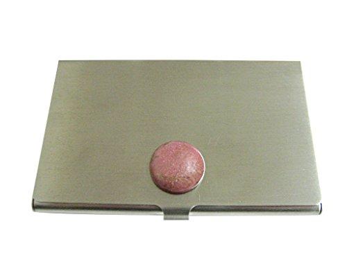 Pink Rhodonite Gemstone Business Card Holder