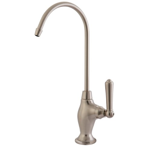 Water Nickel Satin - Kingston Brass KS3198NML Magellan Design 1/4 Turn Water Filter Faucet, Brushed Nickel