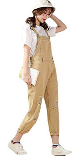 写真付録にじみ出るGergeousダメージ サロペット レディース ゆったり 森ガール系 オーバーオール かわいい ファッション オールインワン 韓国ファッション