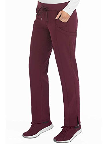 Med Couture Women's 4-Ever Flex Stretch 2 Cargo Pocket Slim Fit Scrub Pant, Wine, X-Small