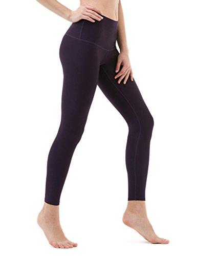 Tesla TM-FYP52-DVT_Large Yoga Pants High-Waist Tummy Control w Hidden Pocket FYP52