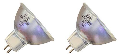 - 2pcs EKE/X 21V 150W Donar Bulb for BAUSCH & LOMB MICROSCOPE 31-31-52 31-30-50 31-30-50-01 31-30-50-02 31-30-50-03 31-30-50-04 31-30-50-05 - BLUE LIGHT Indistries Model 5410 Fiber Optic Illuminator