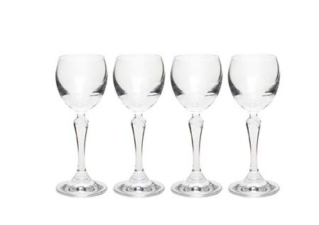 Rona European Footed Cordial Liqueur Glasses, 0.75-Ounce, Set of 4