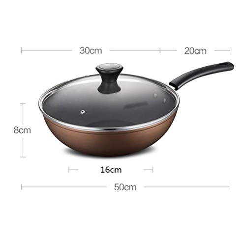 WYQSZ Wok - Home less oil fume wok multi-function durable wok -fry pan 2365 (Design : A) by WYQSZ (Image #1)