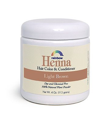 Rainbow Research Henna Hair Col Original And Conditioner Light Brown - 4 Oz