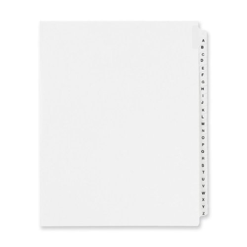Wholesale CASE of 25 - Avery Individually Lettered Tabs Legal Dividers-Legal Divider W/Letter