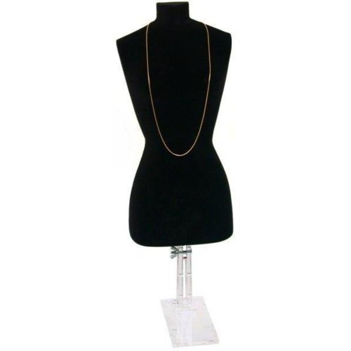 FindingKing Black Necklace Bust Jewelry Body Window Case Displays
