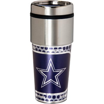 Great American Products 46503 Dallas Cowboys Stainless Steel Travel Tumbler Metallic Graphics - 16 oz. (Dallas Cowboys Thermal Mug compare prices)