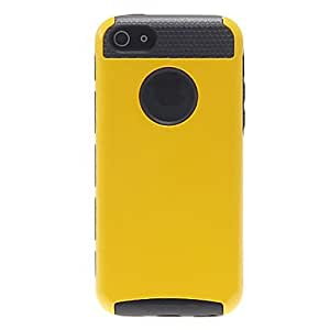 TOPAA 2-in-1 Design Solid Color Hard Case with Black TPU Inside for iPhone 5C (Assorted Colors) , White