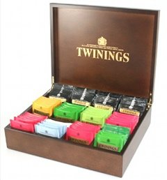 twinings exclusive luxury dark and gold wooden 12