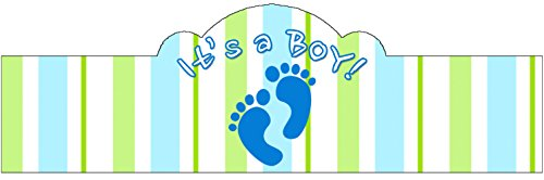 It's a BOY! (Baby Feet) 20 Pack of Self-Adhering Cigar Bands / Labels]()
