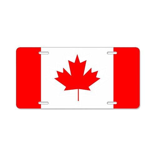 Aluminum License Plate Canadian Canada Flag HD