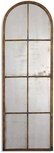Uttermost Amiel Arched Mirror in Maple Brown