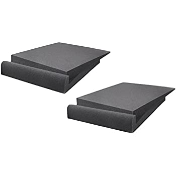 Pyle PSi03 Acoustic Studio Monitor Sound Isolation Pads  Dampening Recoil Stabilizer Speaker Risers (9'' x 12'' Each) Pair