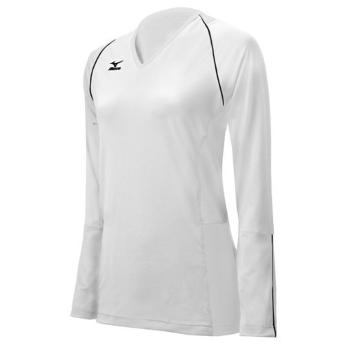 Mizuno Women's Classic Kailua Long Sleeve Jersey, XX-Large, White Mizuno Stretch Jersey