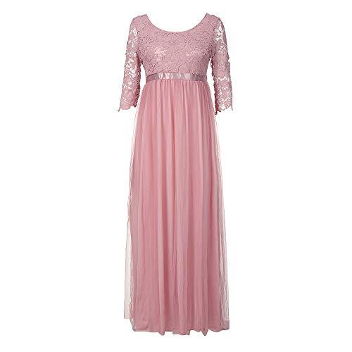 Usstore  Women Bridesmaid Maxi Dress Lace Sexy Fashion Elegant Evening Yarn Simply Banquet Prom Gown (XXL, - Simply Yarn Socks