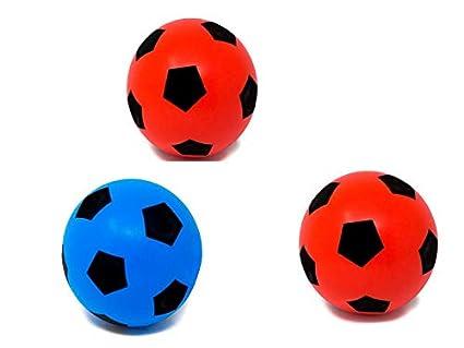 E-Deals - Balón de fútbol de Espuma Suave de 20 cm, 1 Azul y 2 ...
