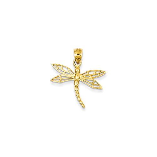 Roy Rose Jewelry 14K Yellow Gold Dragonfly Charm