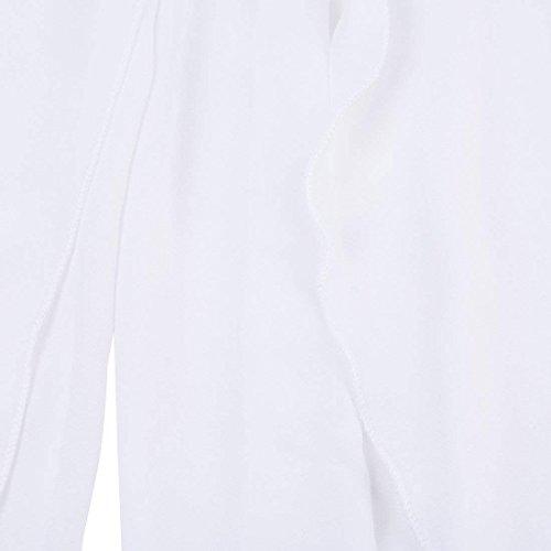 Moda Donna Tempo High Libero Monocromo Larghi Eleganti Pants Estivi Forti Taglie Irregular Gonna Bianco Baggy Pantalone Damigella Pantaloni Waist nXwHS1XF
