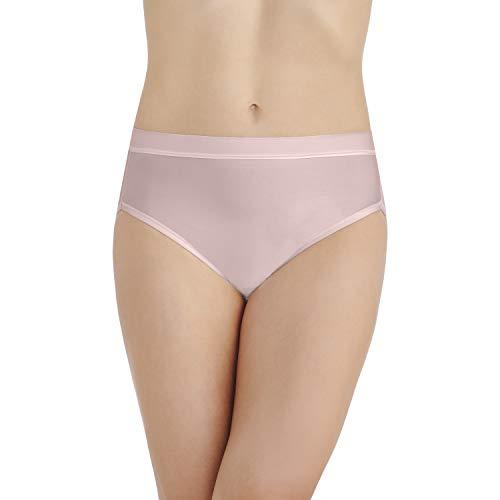 (Vanity Fair Women's Light and Luxurious Hi Cut Panty 13195, Sheer Quartz, 2X-Large/9)