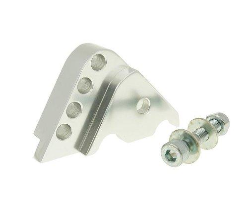 Set rialzo CNC argento 4 fori, per Minarelli in piedi Bike Equipment