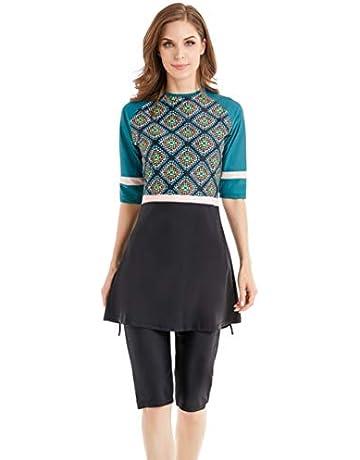 eba578db5f7d TianMai Hot New Muslim Swimwear Islamic Women's Short Sleeve Flower Modest  Swimsuit Beachwear Burkini Lady Rash