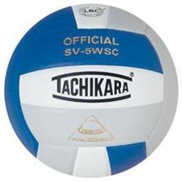Tachikara Composite Volleyball - Sensi-Tec SV-5WSC, Colored Color: Royal/white/silver