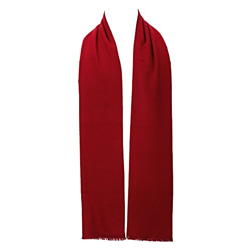 Scarf - Ohayomi Fashion Formal Soft Scarves for Men(wine Red) ()