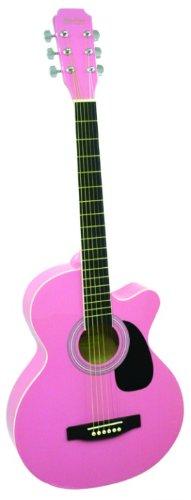Main Street Guitars MAS38PNK 38-Inch Acoustic Cutaway Guitar in Pink Finish (Pink Cutaway Acoustic Guitar)