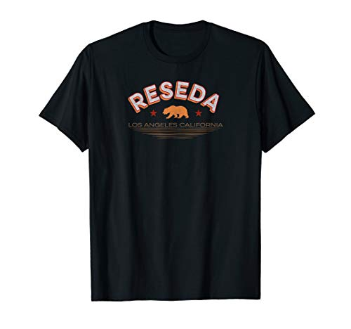 Reseda T-shirt Los Angeles Neighborhood Shirt Cali Bear T
