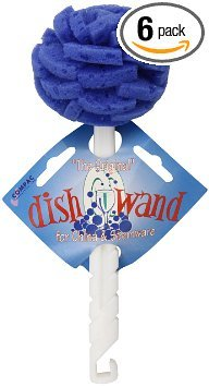 Unit Discount - Compac Dish Wand China - Foam Sponge Petals - for China & Stemware and non scratch areas units (Pack of 6)