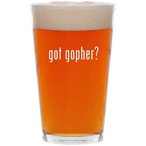 got gopher? - 16oz Pint Beer Glass