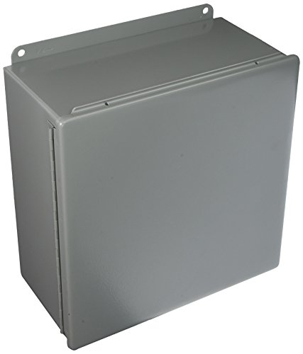 Hoffman A1212CH J Box, NEMA 12, Hinged Cover, Steel, 12.00
