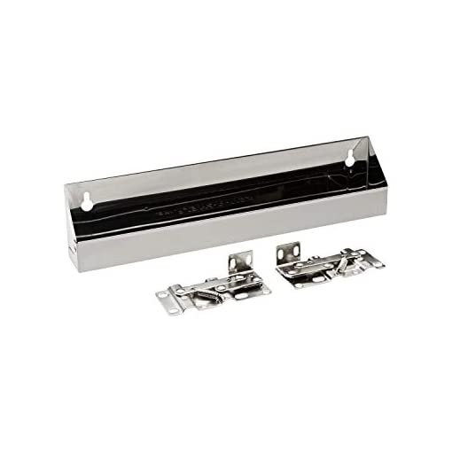 Kitchen Rev-A-Shelf Silvertone Stainless Steel Tip-Out Tray with Hinges tip-out trays