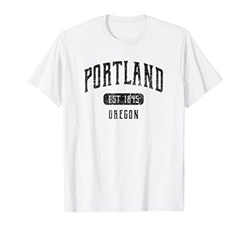 Portland T-Shirt Oregon Distressed Sports Design