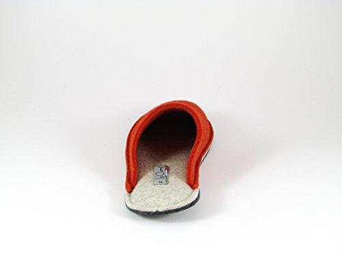 Pantofole da Donna Invernali Arancio/Beige