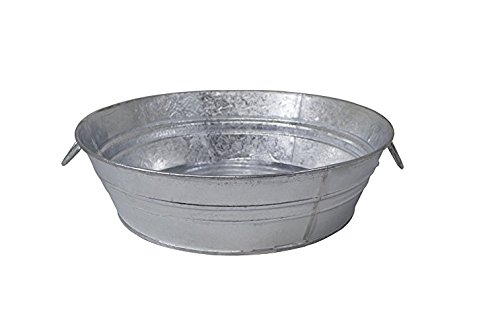 Behrens 105LFT 3 Gallon Hot Dipped Steel Low Flat Tub, Silver from Behrens