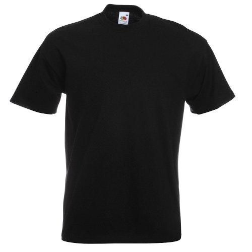 Fruit of the Loom - Heavy T-Shirt 'Super Premium T' XL,black XL,Black
