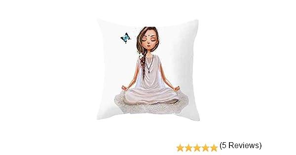LEEDY - Funda de cojín para meditación de Yoga, Funda de cojín para decoración del hogar, sofá de salón, Coche, Dormitorio con Cremallera Invisible, ...
