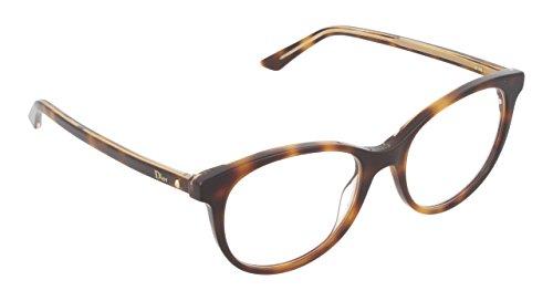 Dior Montures de lunettes MONTAIGNE16 Pour Femme Black / Blue / Transparent Black, 51mm NA3: Tortoise / Crystal