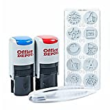 Office Depot Self-Inking Teacher Kit, Blue/Red, 032541