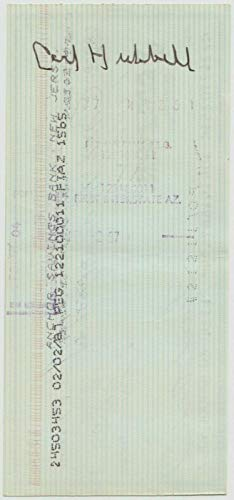 Carl Hubbell Signed Anchor Savings Bank Check Auto Autograph Certificate - JSA Certified - MLB Cut Signatures