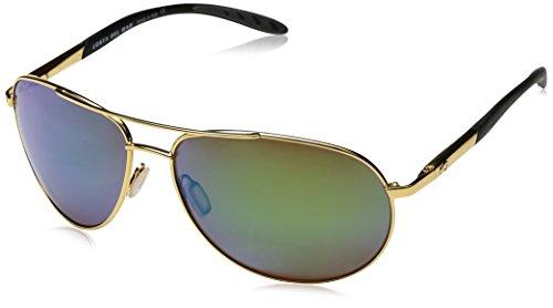 Costa del Mar Men's Wingman Polarized Iridium Aviator Sunglasses, Gold Frame Green Mirror Glass-W580, 60.6 - Aviator Del Mar Costa