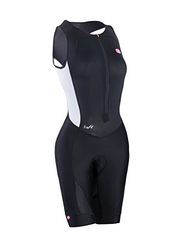Sugoi Women's RS Ice Tri Suit, Black/White, Large ()