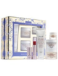 Fresh skincare treasures set 5 pc: Soy Face Cleanser, Lotus Youth Preserve Eye and Face Cream with Super 7 Complex, Sugar Face Polish, Sugar Rosé Lip Treatment ()