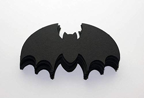 25 Black Paper Bats, Die Cut Bats Halloween Vampire Bats Party Supply